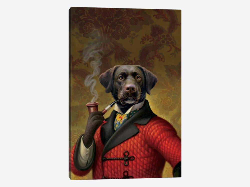 The Red Beret (Dog) by Dan Craig 1-piece Art Print