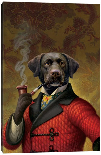 The Red Beret (Dog) Canvas Art Print