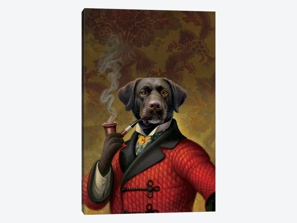 The Red Beret (Dog) by Dan Craig 1-piece Art Print