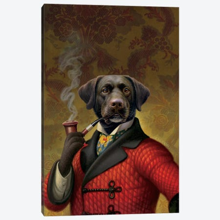 The Red Beret (Dog) Canvas Print #9207} by Dan Craig Canvas Wall Art