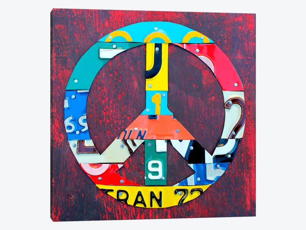 PEACE! 1-piece Canvas Art