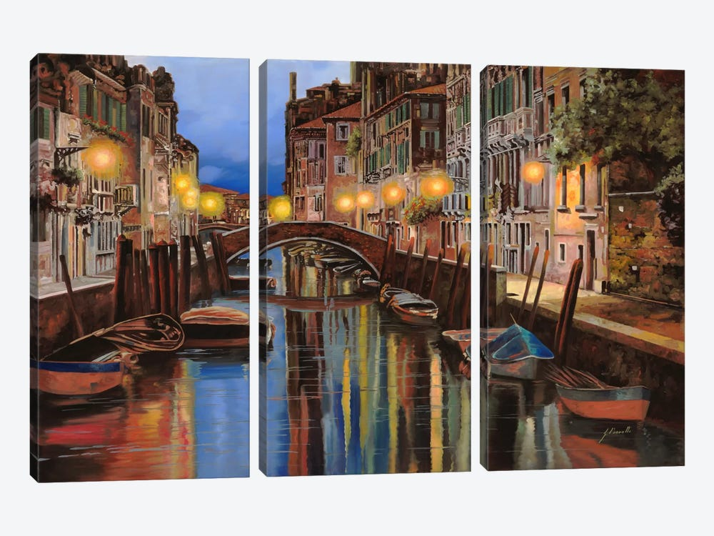 Alba a Venezia by Guido Borelli 3-piece Canvas Print
