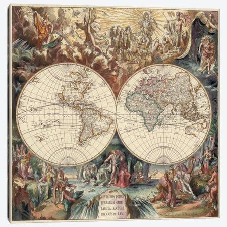 Antique World Map I Canvas Print #9213} by Interlitho Designs Canvas Art