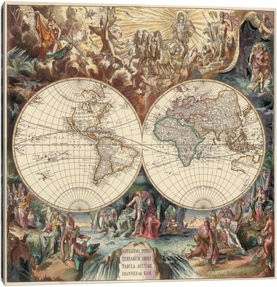 Antique World Map I Canvas Art Print