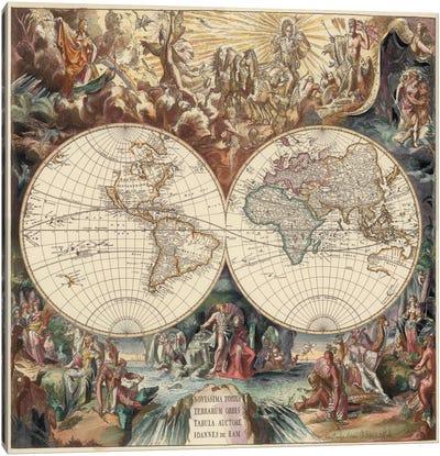Antique World Map I Canvas Art Print