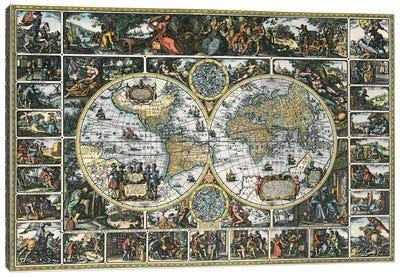 Antique World Map II Canvas Print #9214