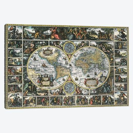 Antique World Map II Canvas Print #9214} by Interlitho Designs Canvas Art Print