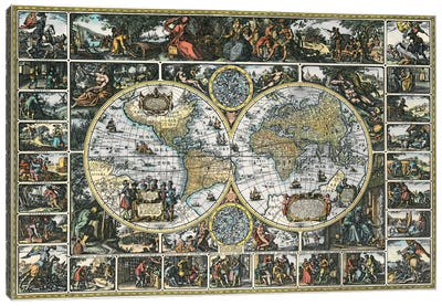 Antique World Map II Canvas Art Print