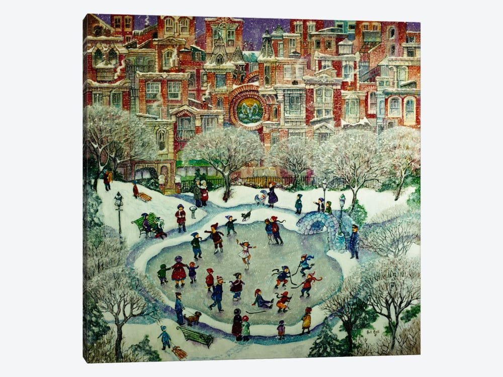 City Skaters by Bill Bell 1-piece Canvas Print