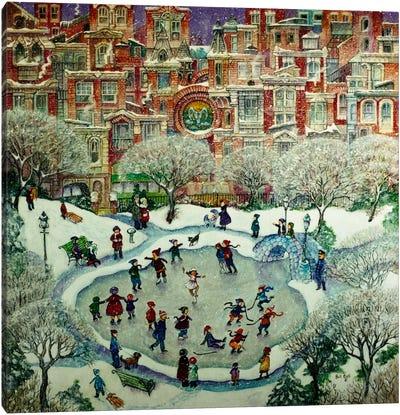 City Skaters Canvas Art Print