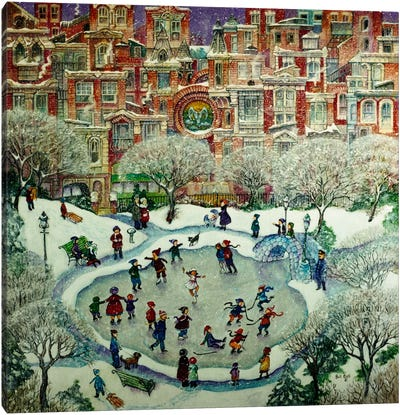 City Skaters Canvas Art Print