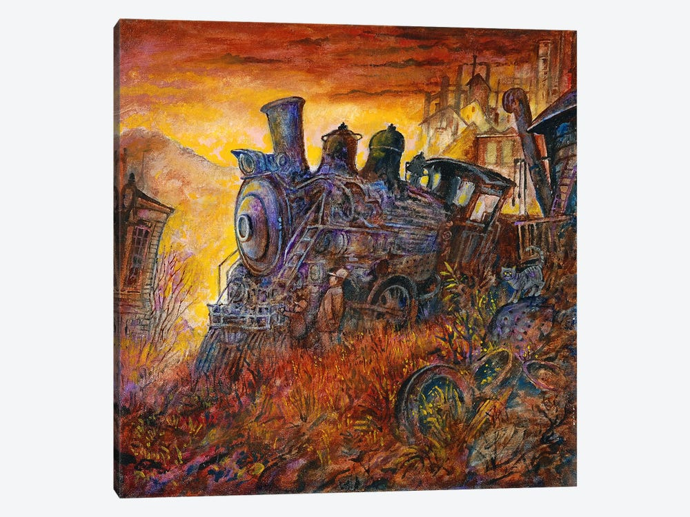 Rusty Train by Bill Bell 1-piece Canvas Print