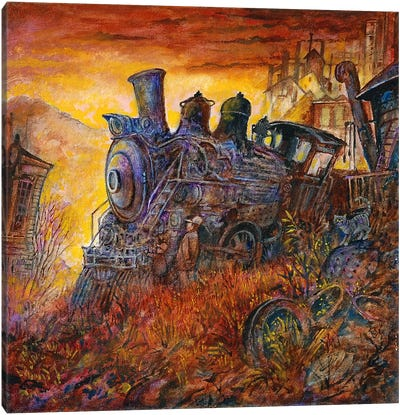 Rusty Train Canvas Art Print