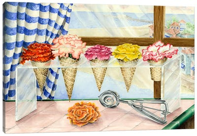 Begonias a la Mode (Ice Cream Flower) Canvas Art Print