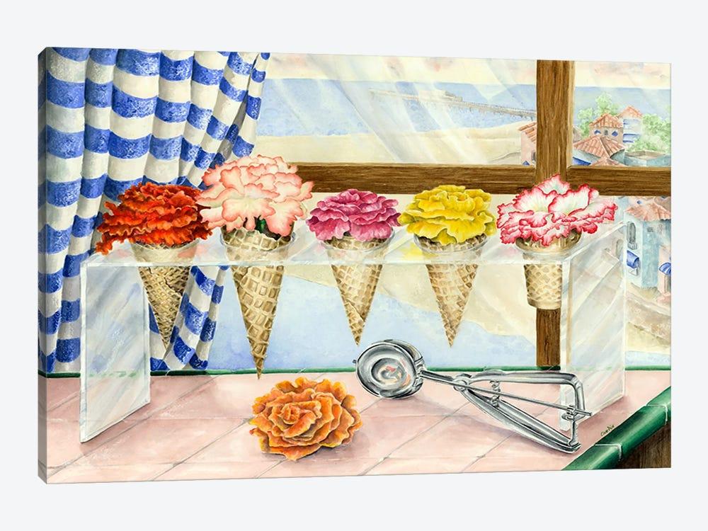 Begonias a la Mode (Ice Cream Flower) by Charlsie Kelly 1-piece Canvas Print