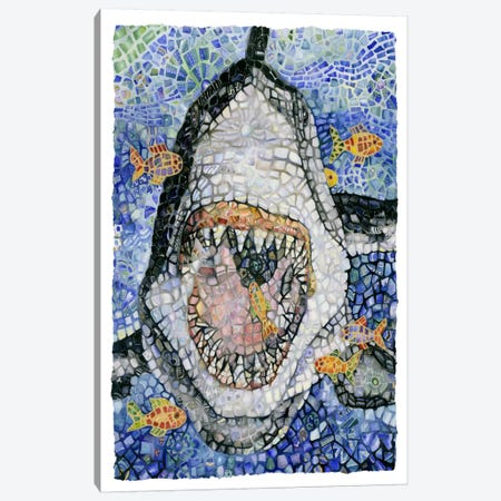 Great White (Shark) Canvas Print #9236} by Charlsie Kelly Canvas Art Print