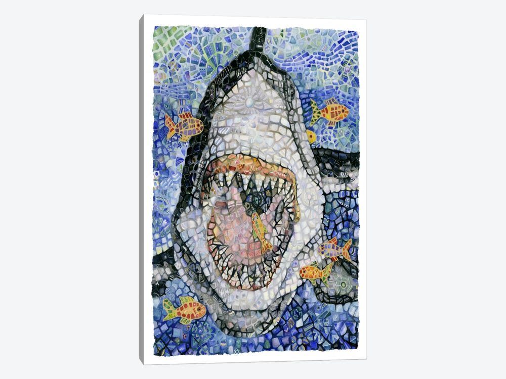 Great White (Shark) by Charlsie Kelly 1-piece Canvas Art Print