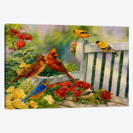Where Friends Meet (Birds) Canvas Print #9240} by Cory Carlson Art Print
