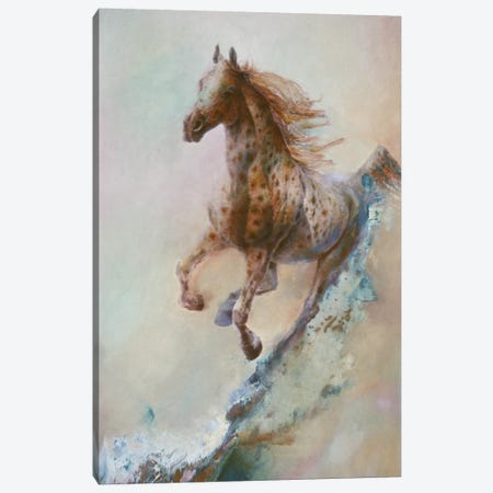 Appaloosa Run (Running Horse) Canvas Print #9241} by Denton Lund Canvas Art Print