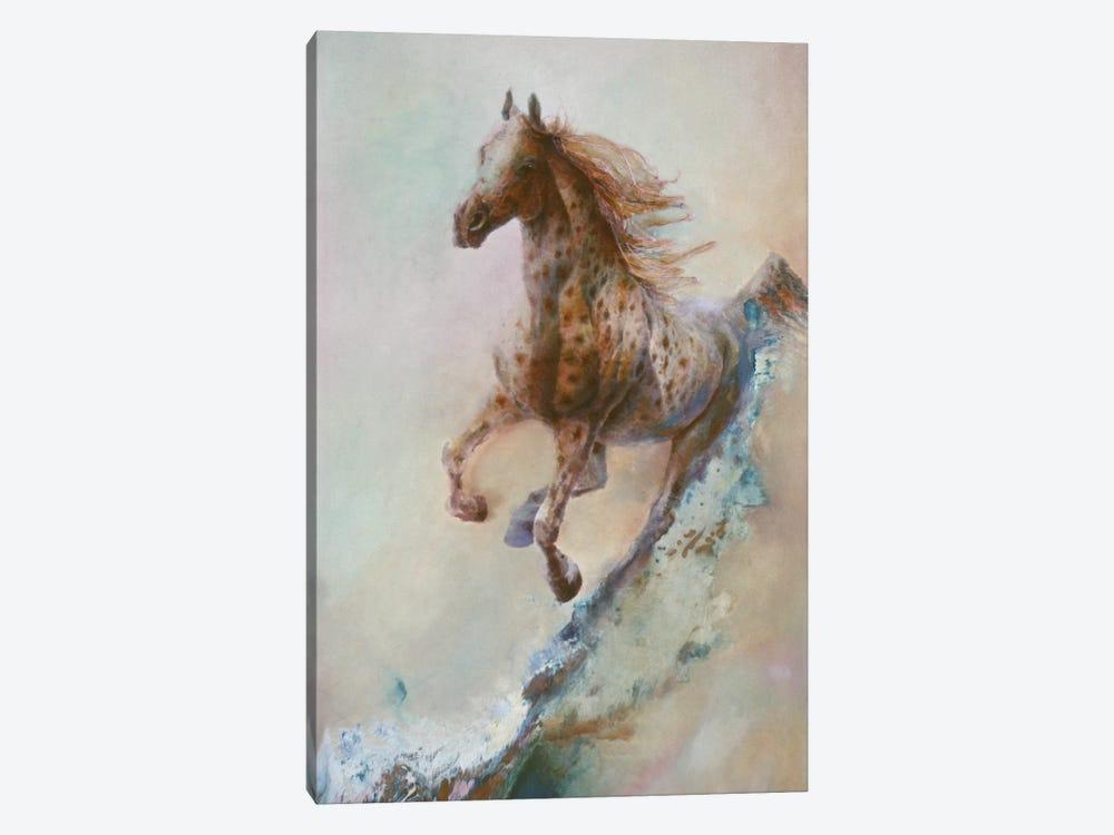 Appaloosa Run (Running Horse) by Denton Lund 1-piece Canvas Art Print
