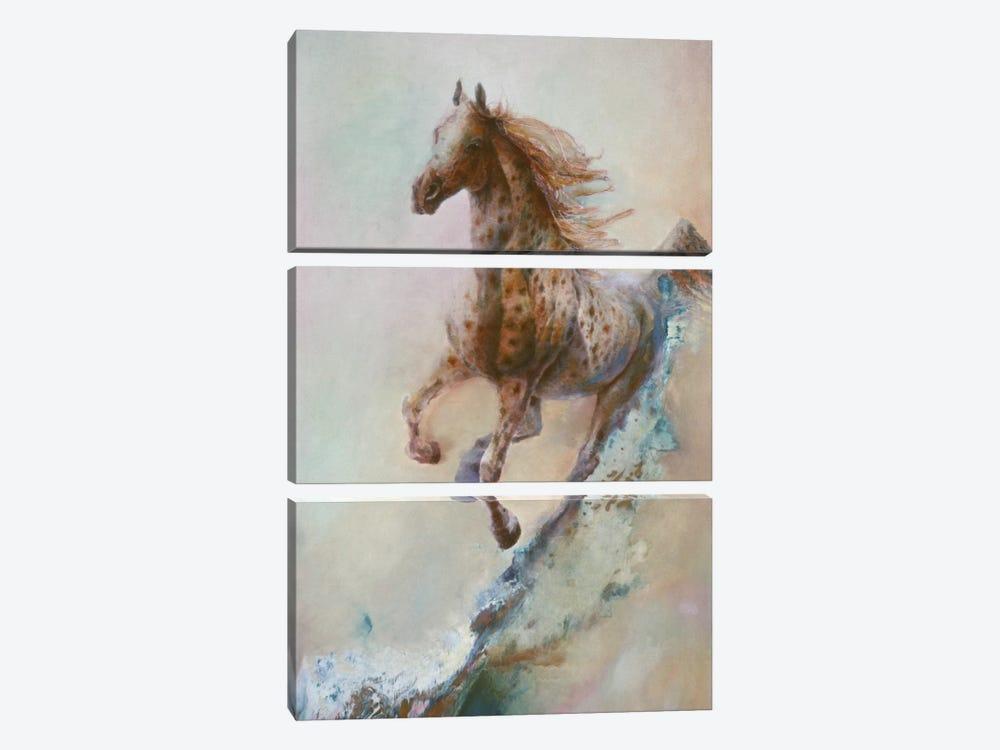 Appaloosa Run (Running Horse) by Denton Lund 3-piece Canvas Art Print