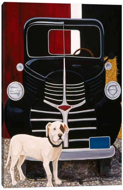Virgil In Front of The Ranch Truck Canvas Art Print