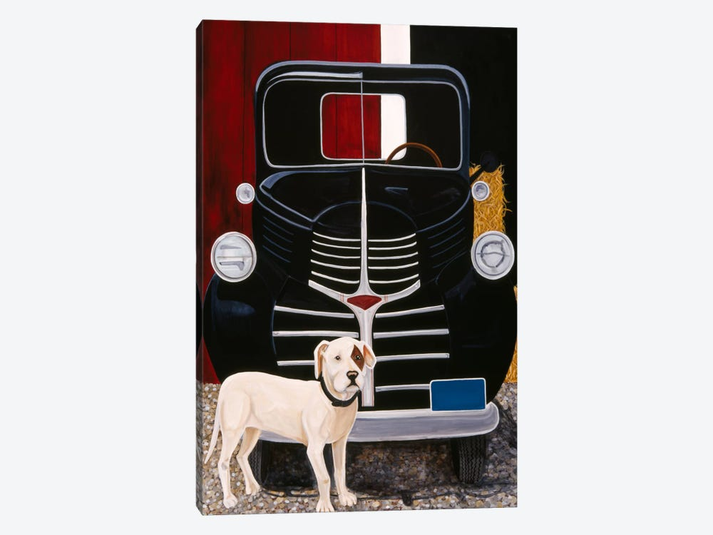 Virgil In Front of The Ranch Truck by Jan Panico 1-piece Canvas Art