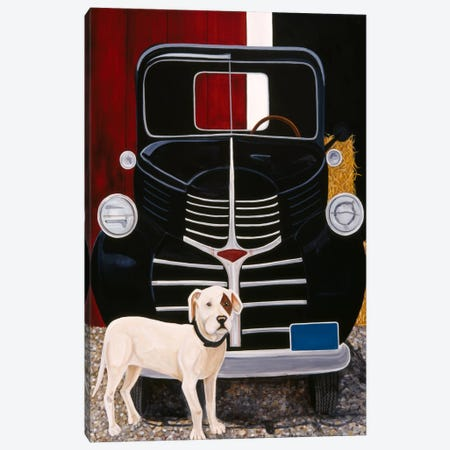Virgil In Front of The Ranch Truck Canvas Print #9244} by Jan Panico Canvas Art