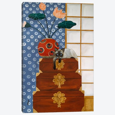 Jasmine on Oriental Wedding Chests Canvas Print #9245} by Jan Panico Canvas Wall Art