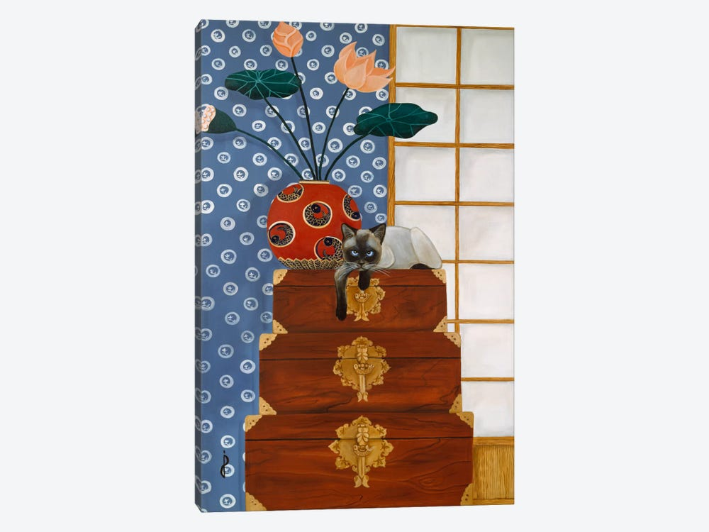 Jasmine on Oriental Wedding Chests by Jan Panico 1-piece Canvas Print