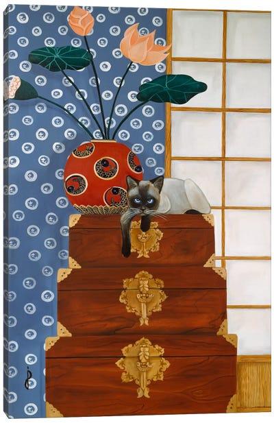 Jasmine on Oriental Wedding Chests Canvas Art Print