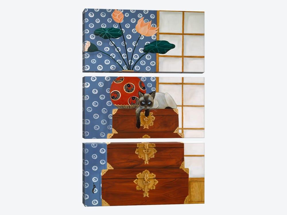 Jasmine on Oriental Wedding Chests by Jan Panico 3-piece Canvas Art Print