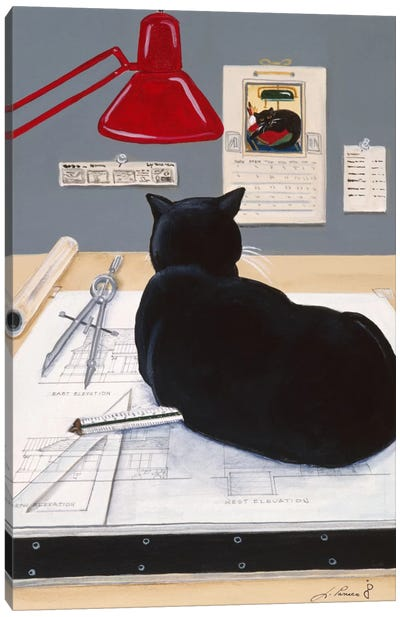 Harold The Architectural Paperweight Canvas Art Print