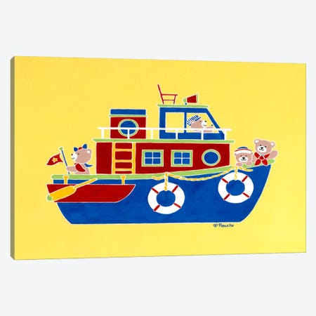 Boating Bears Canvas Print #9272} by Shelly Rasche Canvas Artwork