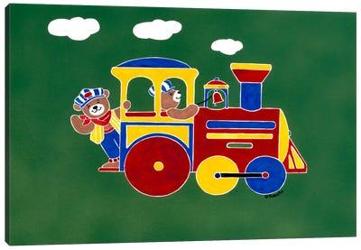 """Bear""ry Happy Conductors Canvas Art Print"