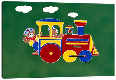 """Bear""Ry Happy Conductors Canvas Print #9273"