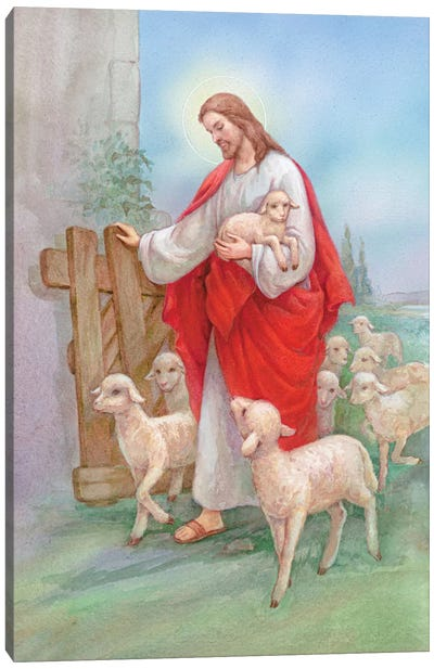 Jesus Sheperd Canvas Art Print