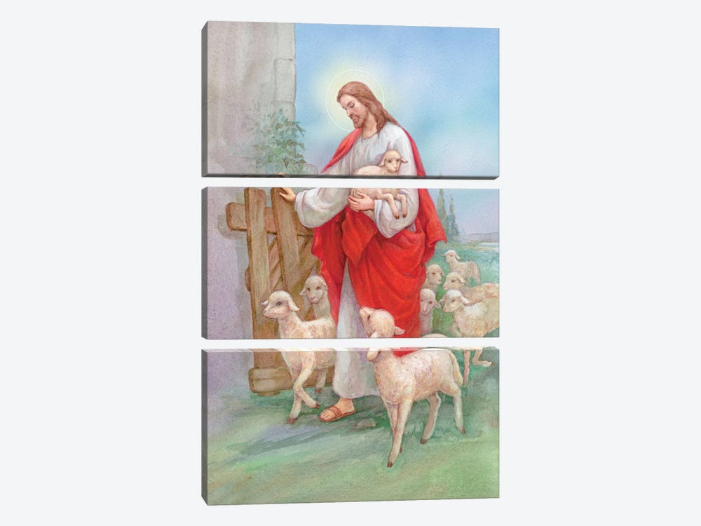 Jesus Sheperd by Christo Monti 3-piece Art Print