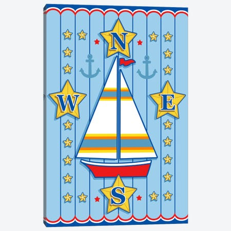 Nautical III Canvas Print #9278} by Michele Meissner Canvas Art