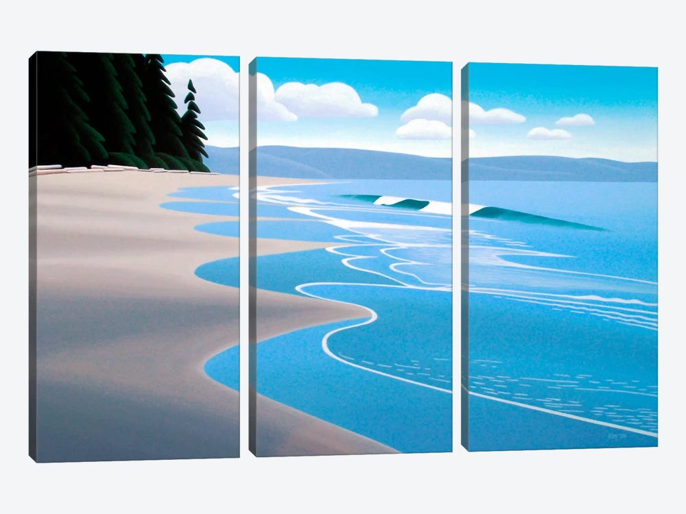 Summer Sand by Ron Parker 3-piece Canvas Wall Art