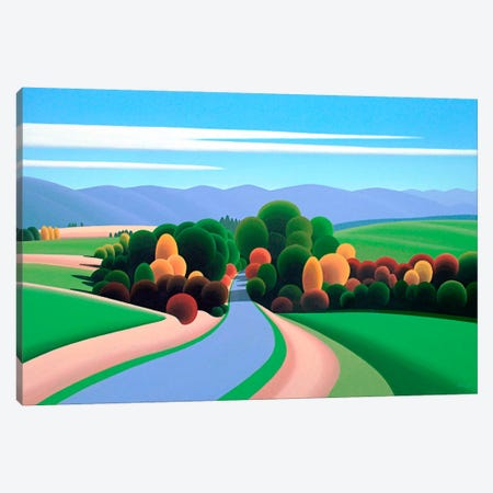 The Winding Road Canvas Print #9322} by Ron Parker Canvas Artwork