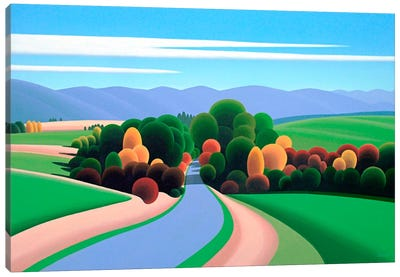 The Winding Road Canvas Art Print