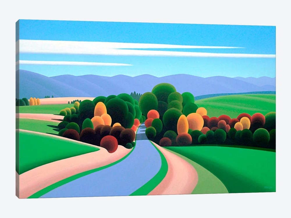 The Winding Road by Ron Parker 1-piece Canvas Print