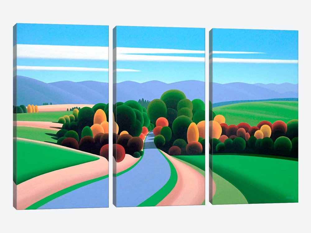 The Winding Road by Ron Parker 3-piece Canvas Print