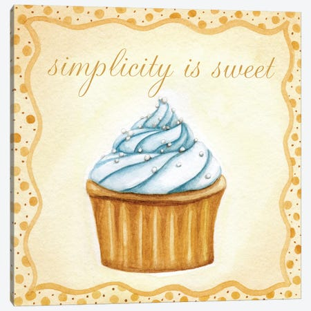 Vanilla Cupcake Canvas Print #9336} by Jennifer Nilsson Canvas Art