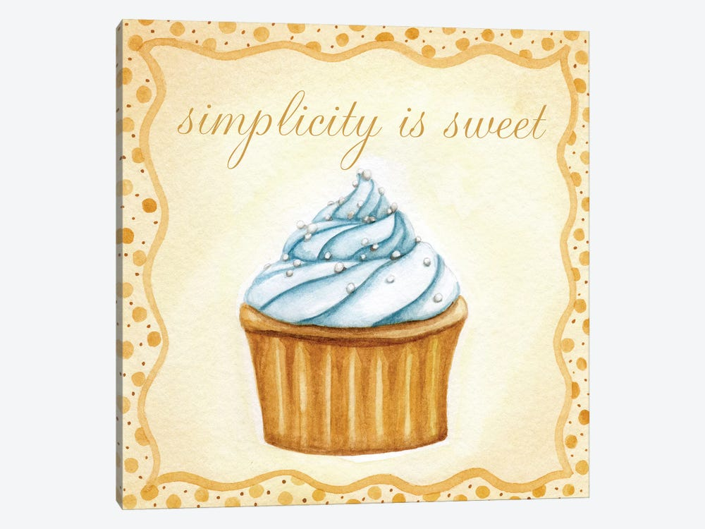 Vanilla Cupcake by Jennifer Nilsson 1-piece Canvas Artwork