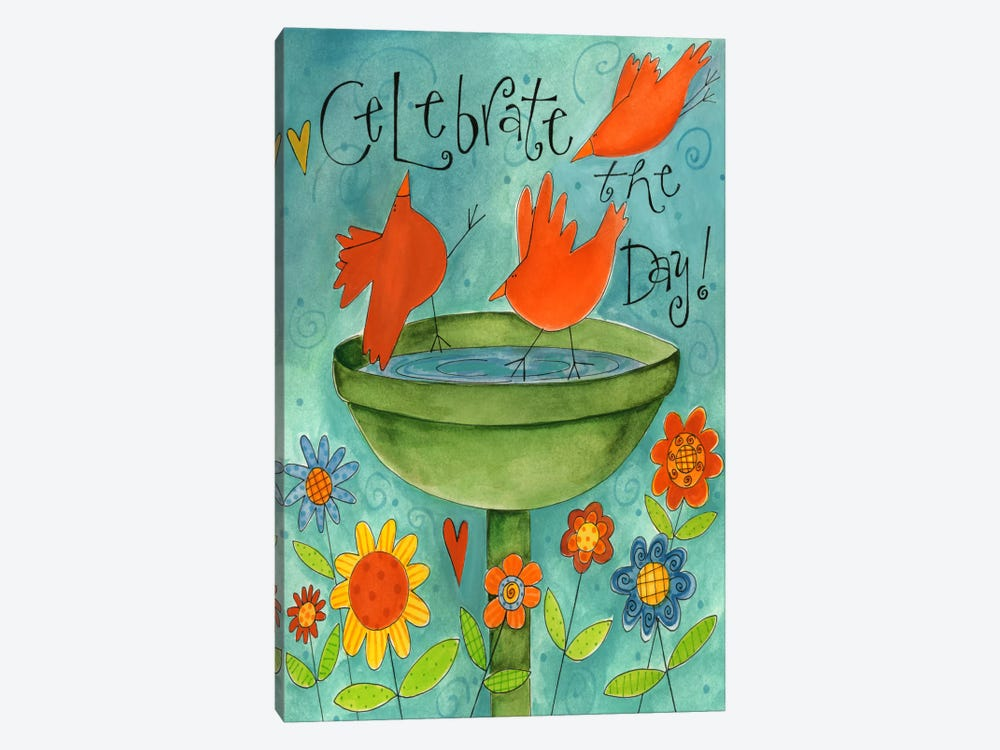 Celebrate The Day by Pat Yuille 1-piece Canvas Artwork