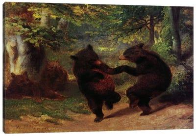 Dancing Bears Canvas Art Print