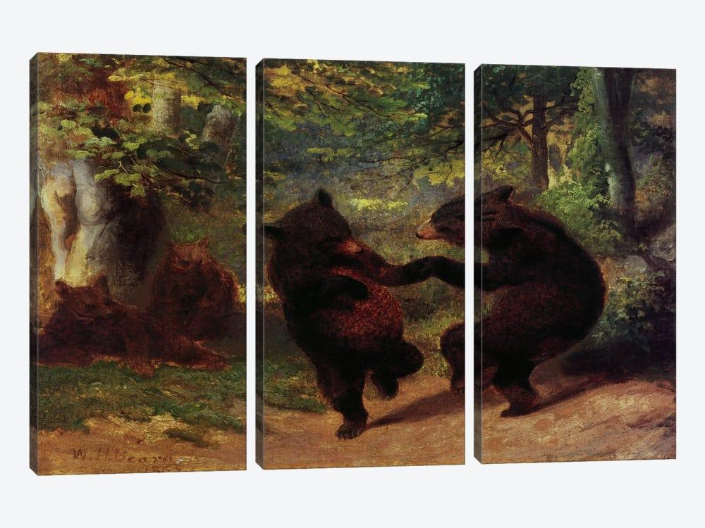 Dancing Bears by Unknown Artist 3-piece Canvas Art