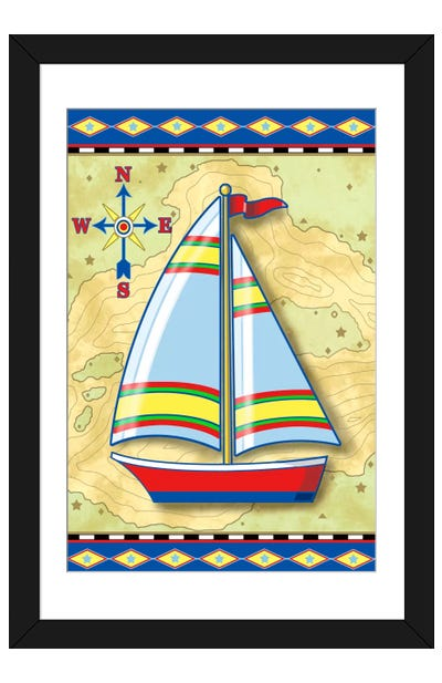Nautical V Framed Art Print